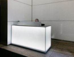 100 Fifth Avenue Lobby | Glass Walls & Desk