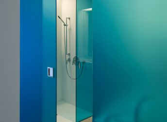 166 Perry Street Residential Building | Glass Shower Door