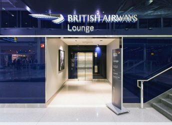 British Airways Lounge | Glass Wall