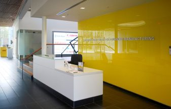 Commonwealth Center for Advanced Manufacturing | Glass Lobby & Wall