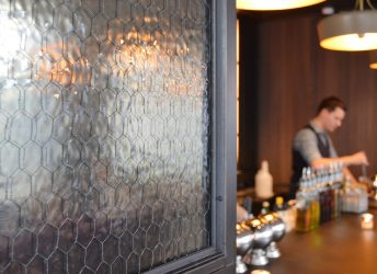 The Skylark | Mirrored Chicken Wire Glass Walls