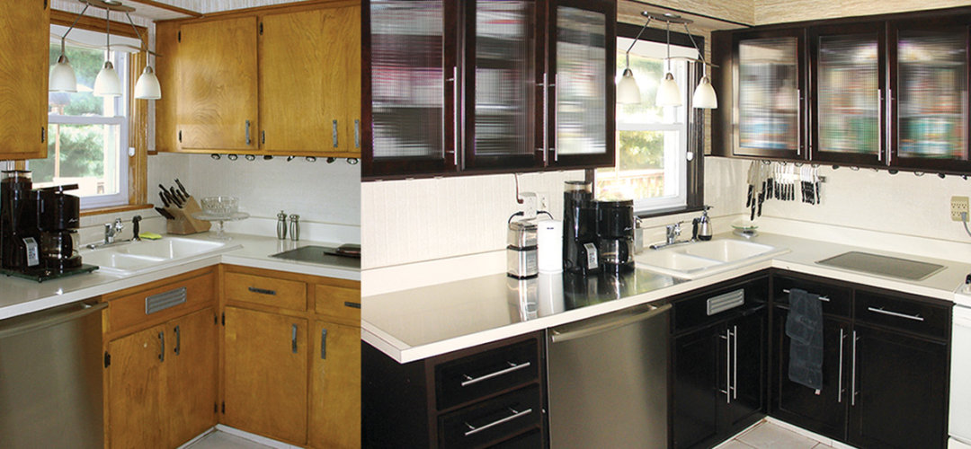 Kitchen Cabinets Refacing Diy Diy Kitchen Cabinets Makeover How To Install New Cabinet Glass .
